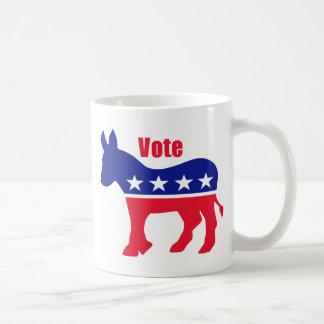 """Amerikanischer Esel mit """"Abstimmung """" Kaffeetasse"""