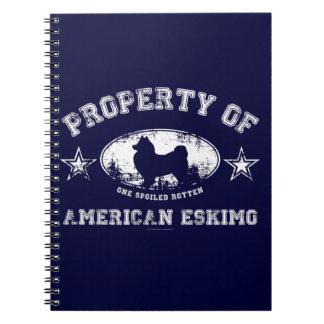 Amerikanischer Eskimo Spiral Notizblock