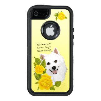 Amerikanischer Eskimohund, mit gelben Rosen OtterBox iPhone 5/5s/SE Hülle