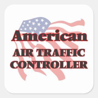 Amerikanischer Fluglotse Quadrat-Aufkleber