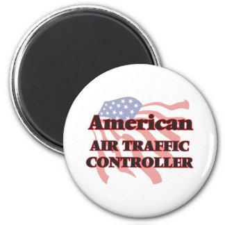 Amerikanischer Fluglotse Runder Magnet 5,7 Cm