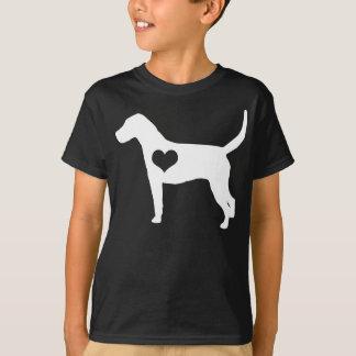 Amerikanischer Foxhound-Herz-Dunkelheit scherzt T T-Shirt