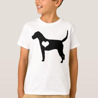 Amerikanischer Foxhound-Herz scherzt T - Shirt