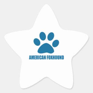 AMERIKANISCHER FOXHOUND-HUNDEentwürfe Stern-Aufkleber