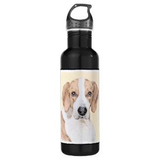 Amerikanischer Foxhound-Malerei - niedliche Edelstahlflasche