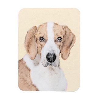Amerikanischer Foxhound-Malerei - niedliche Magnet