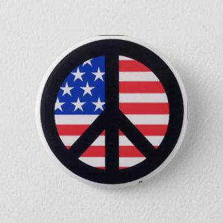 Amerikanischer Frieden Runder Button 5,1 Cm