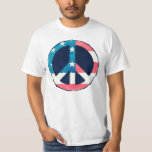 Amerikanischer Friedenszeichen-Schmutz Tshirts