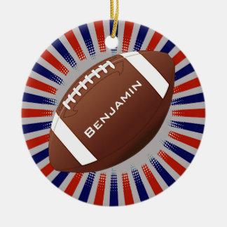 Amerikanischer Fußball-Entwurfs-Verzierung Keramik Ornament