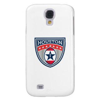 Amerikanischer Fußball Houston hat Streifen-Wappen Galaxy S4 Hülle