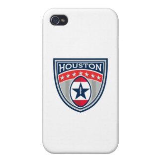 Amerikanischer Fußball Houston hat Streifen-Wappen iPhone 4/4S Case