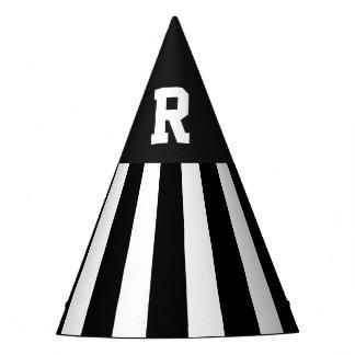 Amerikanischer Fußball-Referent Stripes Papierhut Partyhütchen