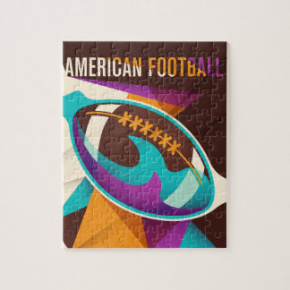 Amerikanischer Fußball-Sport-Ball abstrakt Puzzle