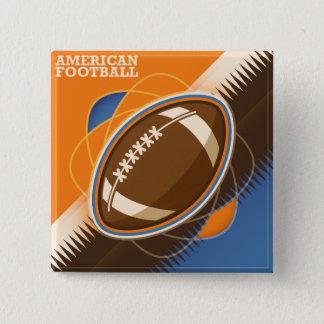 Amerikanischer Fußball-Sport-Ball-Spiel Quadratischer Button 5,1 Cm