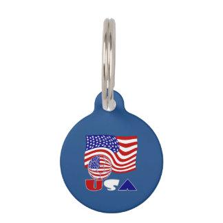 Amerikanischer Fußball und USA-Flagge Tiermarke