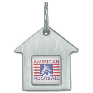Amerikanischer Fußball USA-Flaggen-Farben Tiermarke