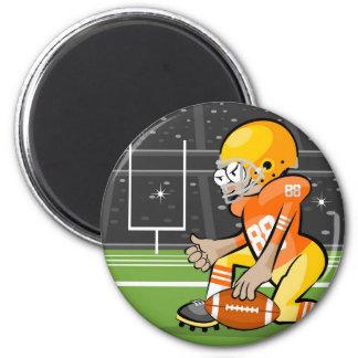 Amerikanischer Fußballspieler Runder Magnet 5,1 Cm