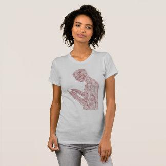 Amerikanischer Gebets-Frauen (Silbers mit T-Shirt