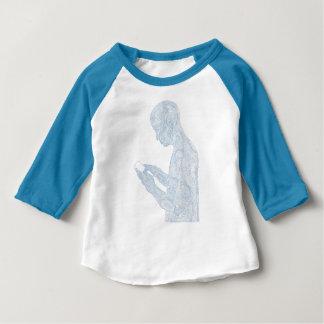 Amerikanischer Gebets-KleinkindRaglan (blau) Baby T-shirt