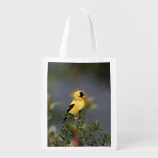 Amerikanischer Goldfinch Wiederverwendbare Einkaufstasche