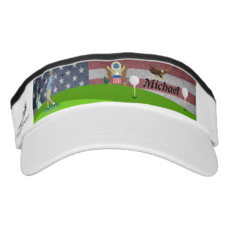 Amerikanischer Golfspieler Visor