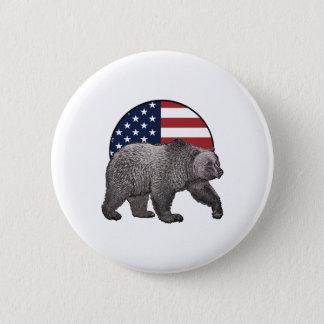Amerikanischer Graubär Runder Button 5,1 Cm