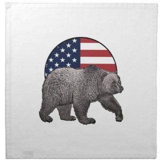 Amerikanischer Graubär Stoffserviette