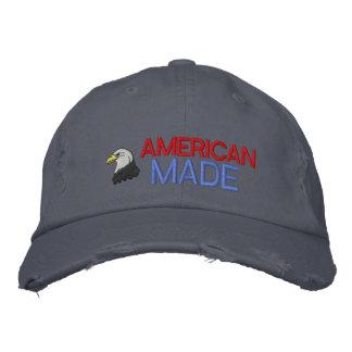 Amerikanischer hergestellter gestickter Hut Bestickte Baseballmützen