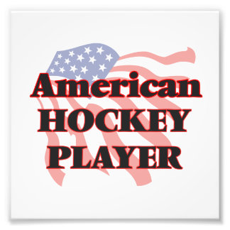 Amerikanischer Hockey-Spieler Kunst Foto