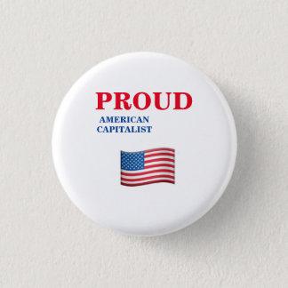 Amerikanischer Kapitalist Runder Button 3,2 Cm