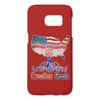Amerikanischer Kroate wurzelt Telefon-Kasten