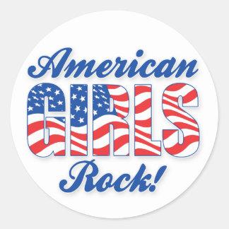Amerikanischer Mädchen-Felsen - Aufkleber