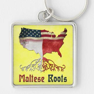 Amerikanischer maltesischer Wurzel-Schlüsselring Schlüsselanhänger