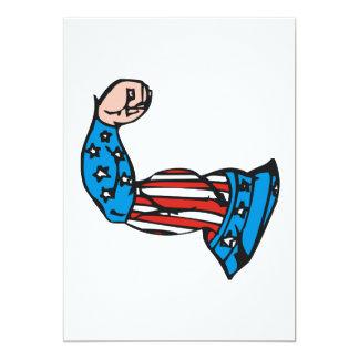 Amerikanischer Muskel 12,7 X 17,8 Cm Einladungskarte