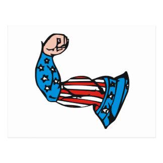 Amerikanischer Muskel Postkarten