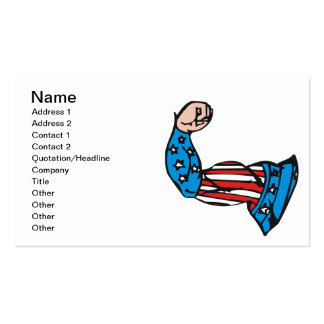 Amerikanischer Muskel Visitenkarten