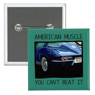 Amerikanischer Muskelauto, klassischer und Vintage Button