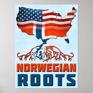 Amerikanischer Norweger-Wurzel-Plakat-Druck Poster