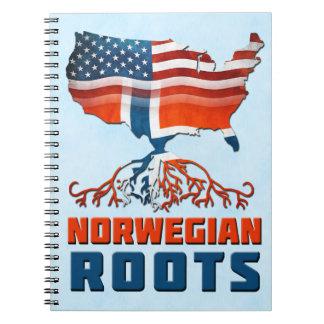 Amerikanischer Norweger wurzelt Notizblock