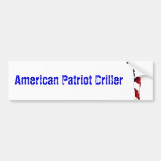 Amerikanischer Patriot-Bohrer-Autoaufkleber Autoaufkleber