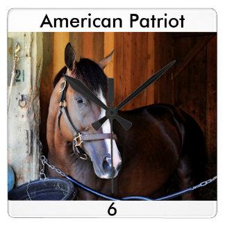 Amerikanischer Patriot Quadratische Wanduhr