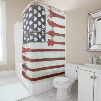 amerikanischer patriotischer duschvorhang