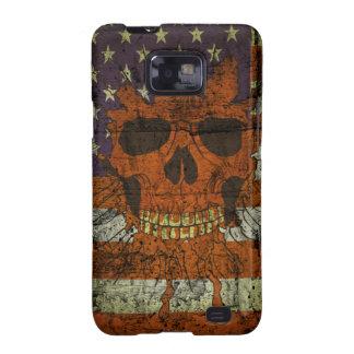 Amerikanischer patriotischer Schädel auf Gunge Wan Samsung Galaxy S2 Cover