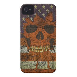 Amerikanischer patriotischer Schädel auf Gunge Wan iPhone 4 Hülle