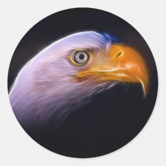 Amerikanischer patriotischer Weißkopfseeadler, Runder Aufkleber
