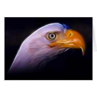 Amerikanischer patriotischer Weißkopfseeadler, nat Karte
