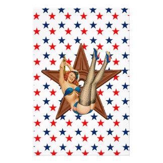Amerikanischer Pinupstern Briefpapier