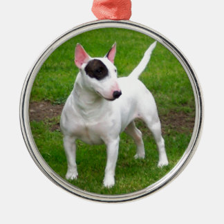 Amerikanischer Pitbull-Terrier-Hund Silbernes Ornament