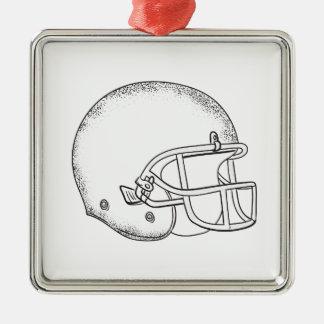Amerikanischer Quadratisches Silberfarbenes Ornament