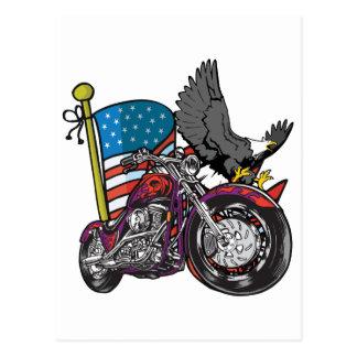 Amerikanischer Radfahrer Eagle Postkarten